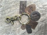 Personalised 50th Birthday Presents for Him Personalized Key Chain 50th Birthday Gift for Him or