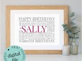 Personalised 60th Birthday Gifts for Him Personalised 60th Birthday Gift Word Art 60th Birthday