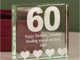 Personalised 60th Birthday Gifts for Him Personalised 60th Birthday Keepsake Engraved Glass Gift