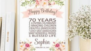 Personalised 70th Birthday Gifts for Him 70th Birthday Gift Etsy