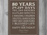 Personalised 80th Birthday Gifts for Him 80th Birthday Gift Sign Canvas Print Personalized Art Mom