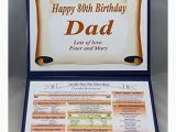 Personalised 80th Birthday Gifts for Him Personalised 80th Birthday Gift 1937 the Day You Were