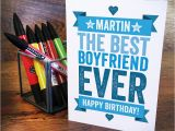 Personalised Birthday Cards for Boyfriend Personalised Birthday Card for Boyfriend by A is for