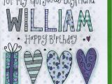 Personalised Birthday Cards for Boyfriend Personalised Boyfriend Birthday Card by Claire sowden