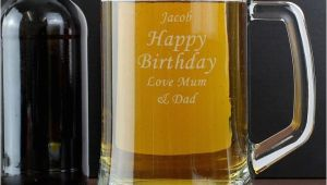 Personalised Birthday Gifts for Him 50th Birthday Personalised Glass Tankard Find Me A Gift