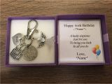 Personalised Gifts for Her 60th Birthday Personalised 60th Birthday Gift Lucky Sixpence Keyring Handbag