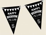 Personalised Happy Birthday Banners Uk Personalised Chalkboard Bunting Happy Birthday Children