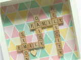 Personalised Scrabble Birthday Cards Custom Made Family Name Frame Personalised Scrabble Art