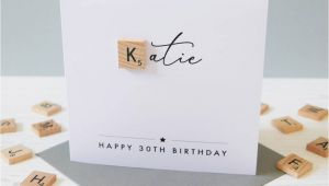 Personalised Scrabble Birthday Cards Personalised Milestone Age Birthday Scrabble Card by Jodie