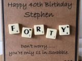 Personalised Scrabble Birthday Cards Personalised Milestone Birthday Scrabble Card 30th 40th