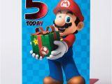 Personalised Super Mario Birthday Card 5th Birthday Card Super Mario Only 99p