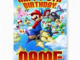Personalised Super Mario Birthday Card Any Name Age Super Mario Bros Happy Birthday A5 All