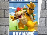 Personalised Super Mario Birthday Card Mario Super Mario Birthday Card Bowser Personalised