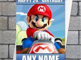 Personalised Super Mario Birthday Card Mario Super Mario Birthday Card Mario Kart
