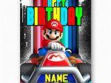 Personalised Super Mario Birthday Card Personalised Name Super Mario Bros Happy Birthday A5 Card