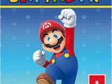 Personalised Super Mario Birthday Card Super Mario Colour Birthday Card Personalised Cards