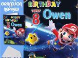 Personalised Super Mario Birthday Card Super Mario Personalised Birthday Card son Brother