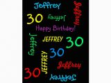Personalize A Birthday Card Personalized Greeting Card 30th Birthday Black Zazzle