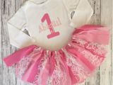 Personalized 1st Birthday Girl Outfits Personalized Baby Girl First Birthday Outfit Pink Birthday