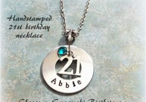 Personalized 21st Birthday Gifts For Her Gift Handstamped