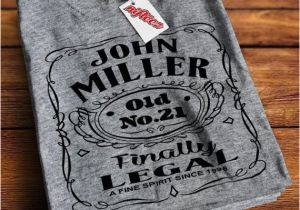 Personalized 21st Birthday Gifts For Her Gift Dk1009 Grey T Shirt