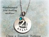 Personalized 21st Birthday Gifts for Him 21st Birthday Gift Personalized Handstamped Gift for 21st