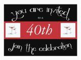 Personalized 40th Birthday Invitations 40th Birthday Party Personalized Invitation Zazzle Com