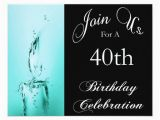Personalized 40th Birthday Invitations 40th Birthday Party Personalized Invitation Zazzle