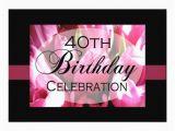 Personalized 40th Birthday Invitations Personalized 40th Birthday Party Invitations 5 Quot X 7