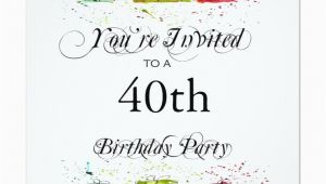 Personalized 40th Birthday Invitations Personalized 40th Birthday Party Invitations Zazzle
