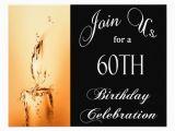 Personalized 60th Birthday Invitations 60th Birthday Party Personalized Invitation Zazzle