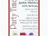 Personalized 60th Birthday Invitations Personalized 60th Birthday Party Invitation Zazzle