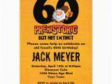 Personalized 60th Birthday Invitations Prehistoric 60th Birthday 5×7 Paper Invitation Card Zazzle
