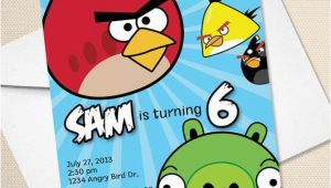 Personalized Angry Birds Birthday Invitations Custom Angry Birds Birthday Invitation Digital File