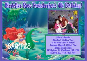 Personalized Ariel Birthday Invitations Little Mermaid Ideas Bagvania Free