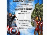 Personalized Avengers Birthday Party Invitations Avengers Personalized Invitations