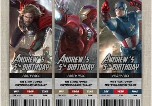 Personalized Avengers Birthday Party Invitations Ticket Invitation Card