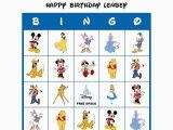 Personalized Birthday Bingo Cards Classic Walt Disney Birthday Party Game Personalized Bingo