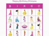 Personalized Birthday Bingo Cards Disney Princess Personalized Birthday Party Game Activity