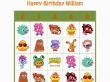 Personalized Birthday Bingo Cards Moshi Monsters Personalized Birthday Party Game Activity
