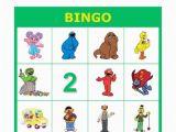 Personalized Birthday Bingo Cards Sesame Street Personalized Birthday Party Bingo by