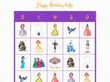 Personalized Birthday Bingo Cards sofia the First Disney Personalized Bingo Cards Birthday