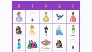 Personalized Birthday Bingo Cards sofia the First Disney Personalized Bingo Cards Birthday