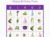 Personalized Birthday Bingo Cards the Princess and the Frog Personalized Birthday Party Game
