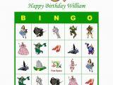 Personalized Birthday Bingo Cards Wizard Of Oz Personalized Birthday Party Game Bingo Cards