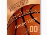 Personalized Birthday Cards for Him Big Personalized Happy Birthday Basketball Cards