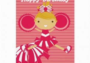 Personalized Birthday Cards For Him Cheerleader In Red Zazzle