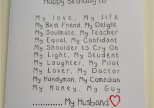 Personalized Birthday Cards For Husband Card Design Ideas