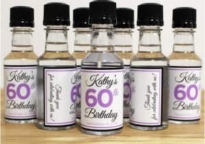 Personalized Birthday Decorations Adults Custom Mini Bottle Labels Favors Adult Women 21