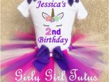 Personalized Birthday Girl Outfits Baby Girl Unicorn Personalized Custom Birthday Tutu Outfit